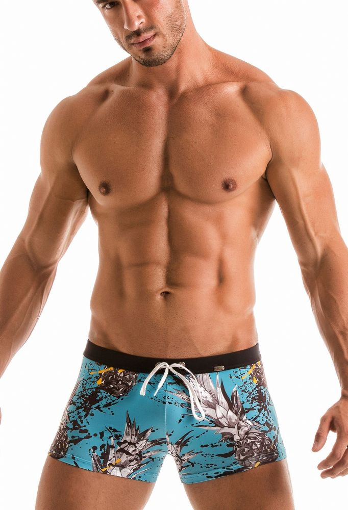 Geronimo Mens Blue  Swimwear Boxer Trunks 1908b1